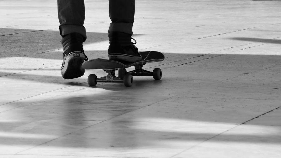 Ride with me... Human Body Part Eye4photography  EyeEm Gallery EyeEm Best Shots B&w b&w street photography Low Section Sports Photography Sports athleisure Streetphotography From My Point Of View Real People Leg Low Section Sport Human Leg Motion Skateboard Park Skateboard Longboard Skating Skating
