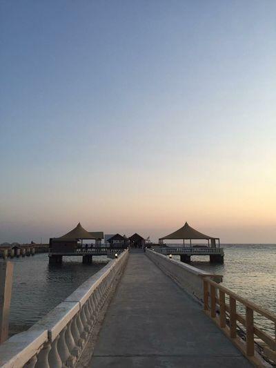 Obhur Beach Resort, Saudi Arabia Bridge Cottages Nature Scenic View Sea Serenity Sky Sunset