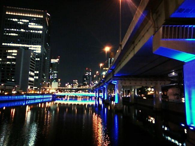Yodoyabashi,Osaka city. Nightphotography OSAKA Osaka-shi,Japan