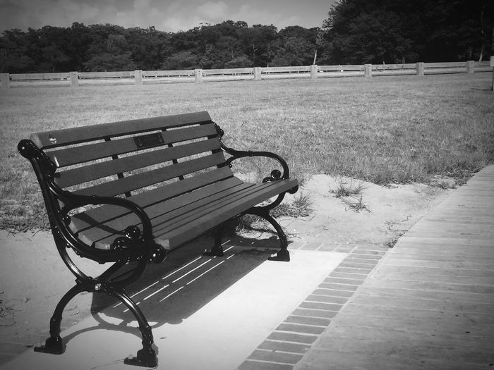 Empty seats in park