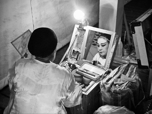 Arts Culture And Entertainment Adult People Night Indoors  Reflection Brush On Make Up Chinese Opera Back Stage The Week On EyeEm
