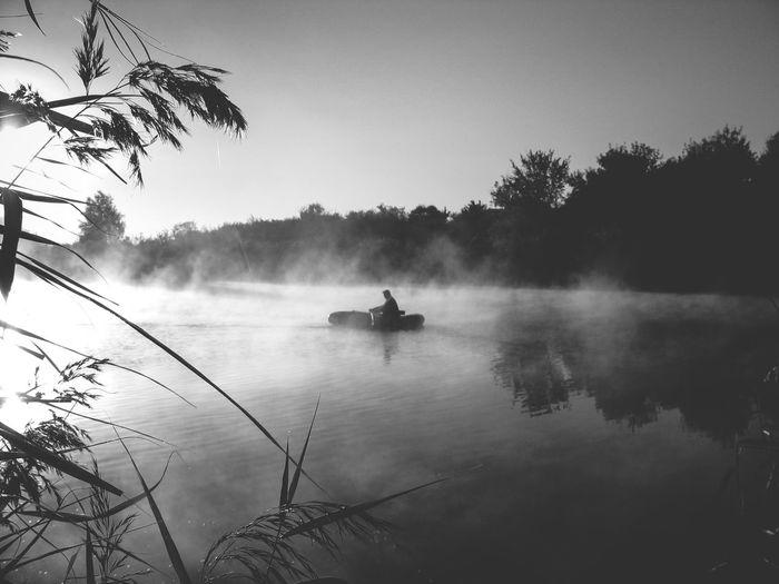 Початок нового дня Україна горлівка Донбас риболовля ранок на озері осінь старі фотографії 2006