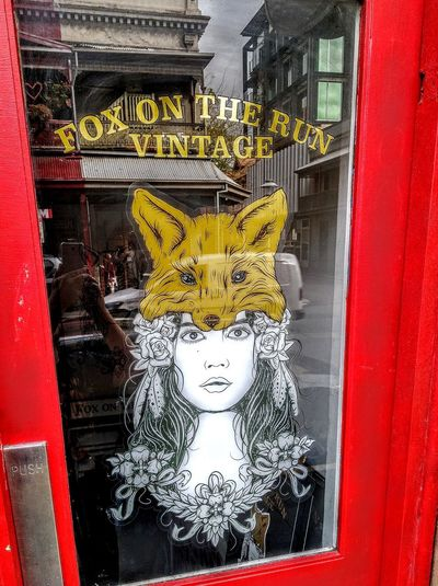 Text&images WesternScript Female Likeness Foxporn The Red Fox The Red Fox™ Text Western Script Check This Out Taking Photos Animal Themes Commercial Signs Red Fox Redfox Fox🐺 Foxes Foxy Foxylady Foxy Lady Reflection Windows Window Reflections Fox Hat Foxhat FoxOnTheRunVintage Fox On The Run, Vintage Fox Foxontherun Fox On The Run Window