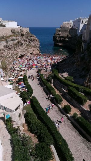 Outdoors Polignano A Mare Travel Destinations Large Group Of People Vacation Huawei P 9