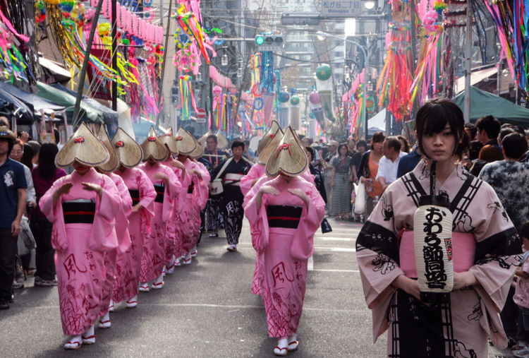 Japan Japan Photography Japanese Culture Pink Religious Rituals. Tokyo Celebration City Crowd Culture Festival Group Of People Hairstyle Large Group Of People Outdoors Religious  Reportage Shinto Of Japan Shinto Ritual Shintoism Streetphotography Traditional Clothing Traditional Festival Women