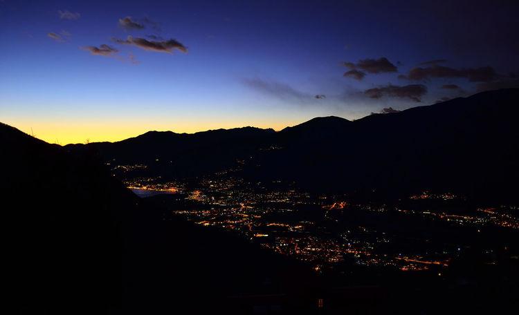 Blue Hour Italia Italy Lombardia Ora Blu Sunset Tramonto Val Camonica