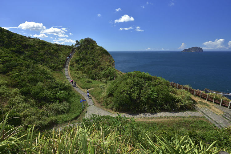 Ladder Taiwan Travel Beauty In Nature Coastal Comfortable Day Grass Horizon Over Water Keelung Mountain Nature No People Outdoors Scenics Sea Sky Summer Trail Tranquil Scene Tranquility Water