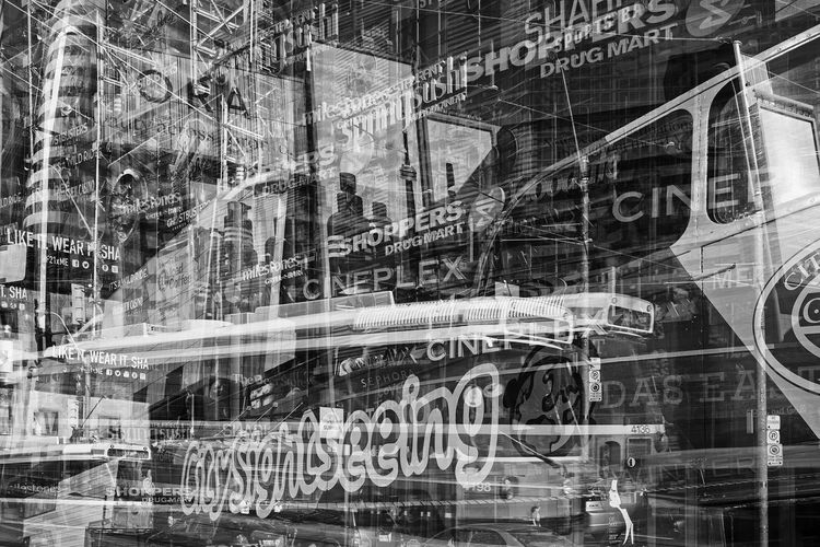 Urban Intersection, Yonge and Dundas, Toronto Architecture Collage Corporate Business Day Montage Photography Multi-layered Effect Multiple Exposures No People Outdoors Sightseeing Sightseeing Tour Toronto Toronto Canada