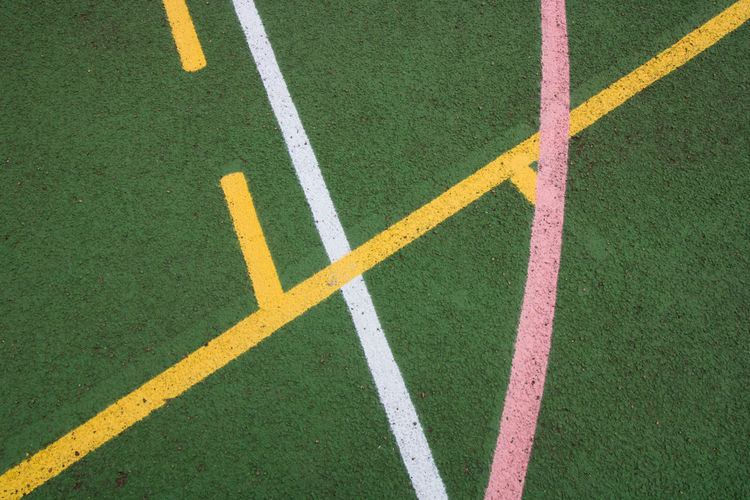 Geometric Shapes Lines Shapes Sport In The City Tennis Day Geometric Shape Geometry Grass Green Color High Angle View Marking No People Outdoors Shapes And Forms Sports Sports Photography Sports Team Sporty Tennis Court