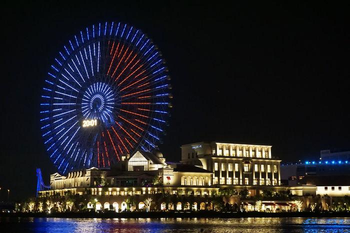 2017 Japan Pokemon Go Pokémon Yokohama Architecture Building Exterior Built Structure City Events Ferris Wheel Illuminated Night Outdoors Sky ポケモン ポケモンGO モンスターボール 観覧車
