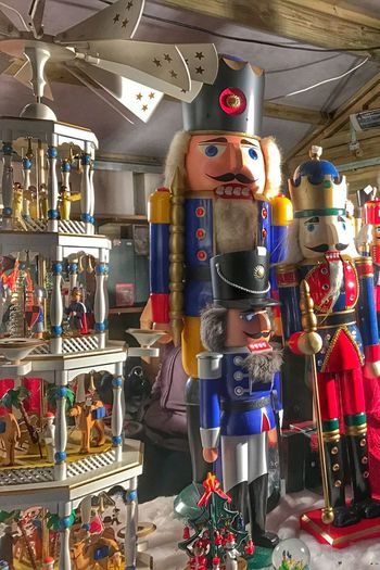 Christmas Market Large Group Of Objects Tradition Nutcrackers Nutcrackersoldier Nutcracker Close-up Christmas Decoration No People