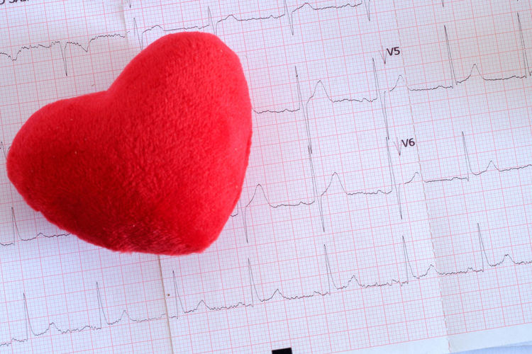 Heart shape & ECG graph ECG Graph Close-up Concept Health Heart Shape Indoors  Love Medical Medical Exam No People Paper Red