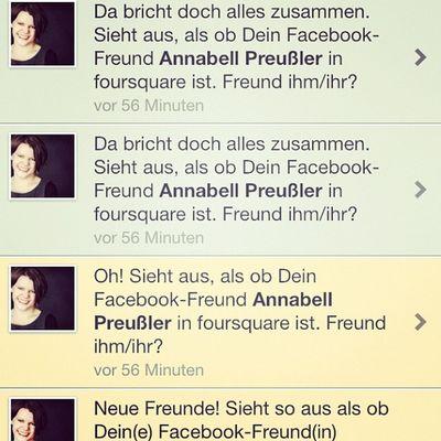#Foursquare schlägt mir mich selbst als Freundin vor. How's that? Foursquare