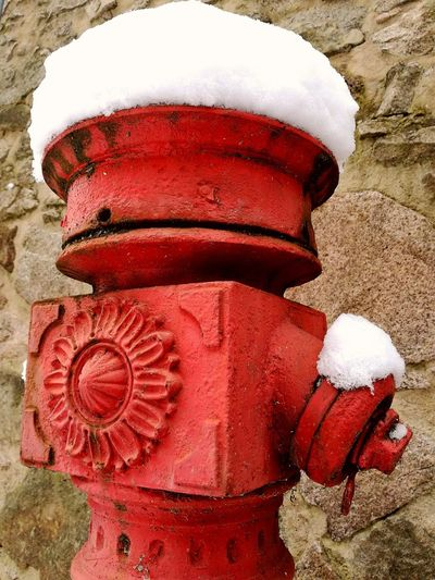 It's Only A Hydrant hydrant Red Winter No People Cold Temperature Fine Art Photography Outdoors A Moment My Point Of View Taken With The Huawei P9 Done That. EyeEmNewHere Shades Of Winter My Best Travel Photo