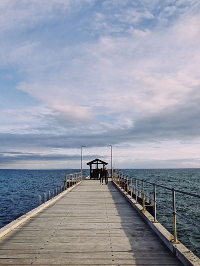 Going to the end Sky Water Sea Cloud - Sky The Way Forward Direction Pier Horizon Beauty In Nature Horizon Over Water Scenics - Nature Nature Tranquil Scene Tranquility Diminishing Perspective Jetty Wood - Material Architecture Day Outdoors