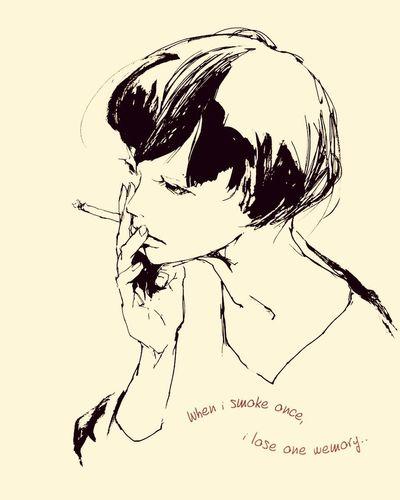 smoking Deams Illustration Message
