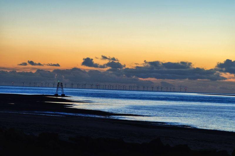 Sea Front Promenade Sunset Sea Seascape Calm Water