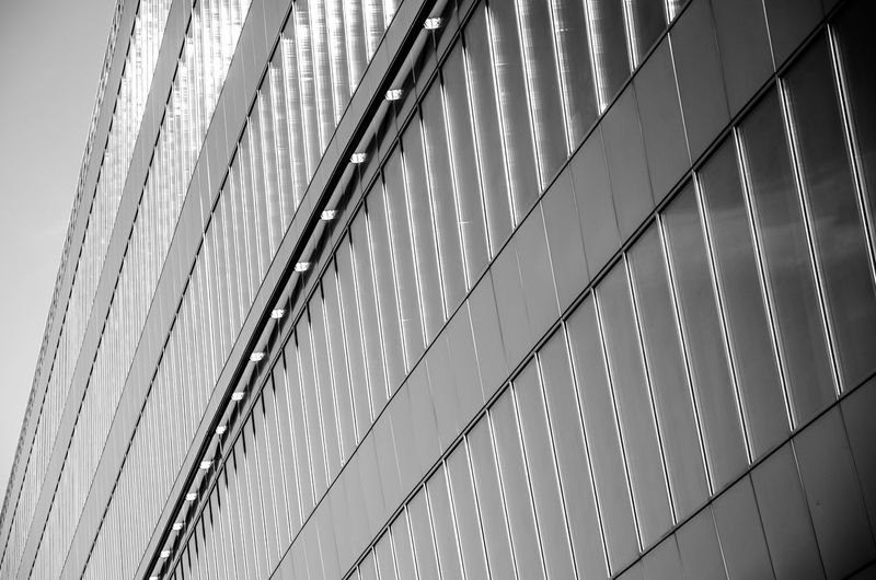 The Squaire Frankfurt Airport Architecture Building Building Exterior Built Structure Day Low Angle View Metal Modern No People Outdoors Sichtmanufaktur Sky The Squaire Train Station Wall - Building Feature