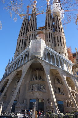opposite side Barcelona Famous Place Gaudi History International Landmark Sagrada Familia Travel Destinations