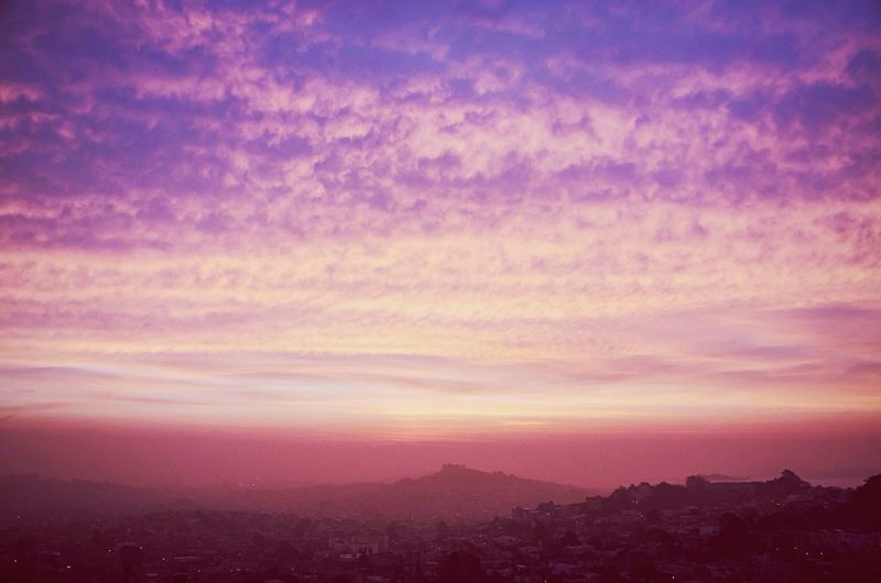 Bubblegum sky. Sunrise Urban Landscape EyeEm Best Shots San Francisco Enjoying The View Taking Photos Nature