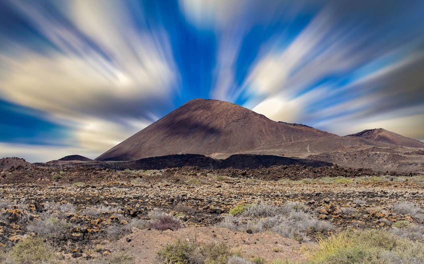 Beauty In Nature Cloud - Sky Day Desert Landscape Long Exposure Mountain Nature No People Outdoors Physical Geography Scenics Sky Tranquil Scene Tranquility Travel Destinations Volcanic Landscape Volcano