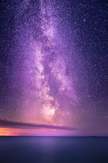 Amazing view to the Milky Way Water Astronomy Milky Way Galaxy Outdoors No People Landscape Nature Beauty In Nature Star - Space Exploring Horizon Over Water Check This Out EyeEm Nature Lover Sea Sky Night Photography Reflection Taking Photos Tranquility Hanging Out Space Travel Scenery