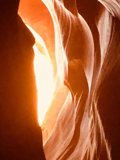 EyeEm Selects Sunlight Orange Color Nature No People Non-urban Scene Tranquility Beauty In Nature Rock - Object Glowing Rock Scenics - Nature Rock Formation Sunset Environment Land Idyllic Solid Outdoors Day Remote