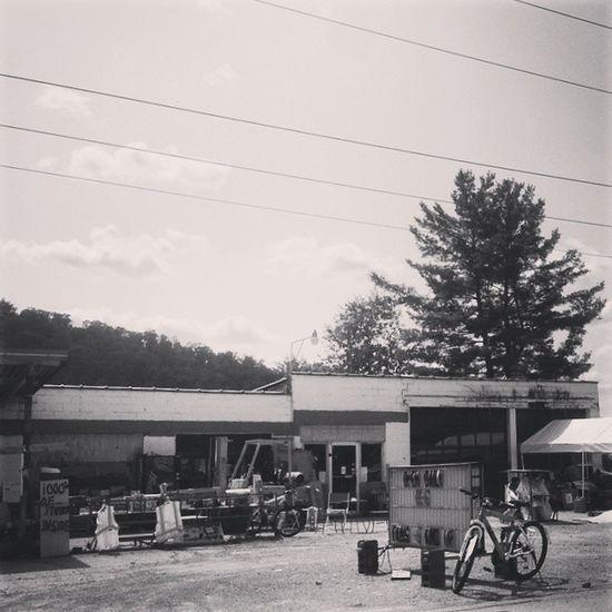 Thousands of items inside (open 11-6) Rurex Ruralamerica Trb_members1 Alleghenies stateforest retired gasstation curio shop weirdamerica sign exploded pennsylvania