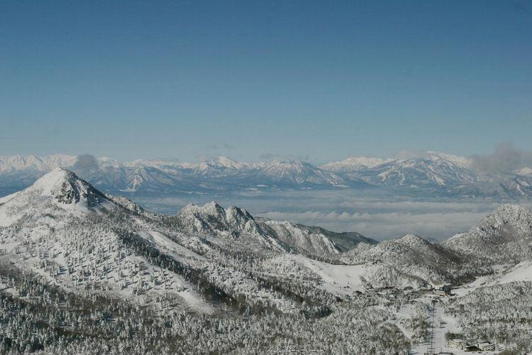 冬の横手山から Mountain Landscape Mountain Range Beauty In Nature Snow Winter Scenics - Nature Nature Snowcapped Mountain Mountain Peak Outdoors Day Sky Photography