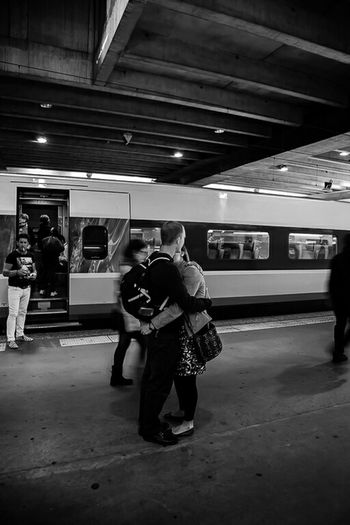 The Human Condition Black&white Canon 6D Sigma35mm Blackandwhite Photography Streetphotographer Street Photography Canon6d France Train Station Feel The Journey