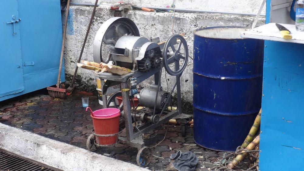 Blue Equipment Hightech Industry Metal Old Outdoors Sugar Sugarcane Sugarcanejuice Sugarcanepress