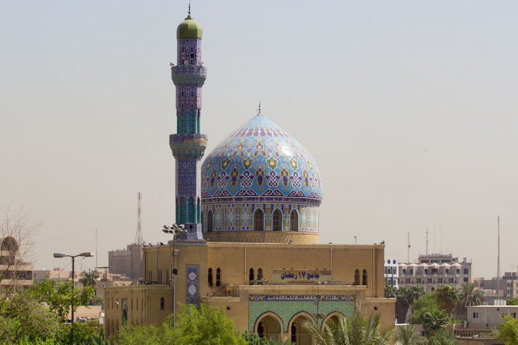 Iraq . Baghdad Baghdad Baghad Historical Building Mousqe Old Mousqe Islam Dome Minaret