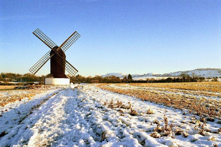 Winter Cold Temperature Wind Power Snow Traditional Windmill Wind Turbine Windmill