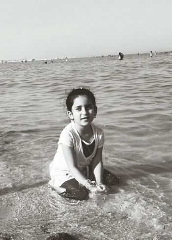 My daughter Saba at alwakra beach Beach My Life My Daughter Beauty