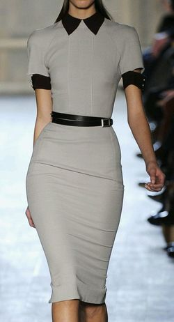 Pencil dress ♡ it! Fashion Design Style And Fashion Working Woman Lovely Dress