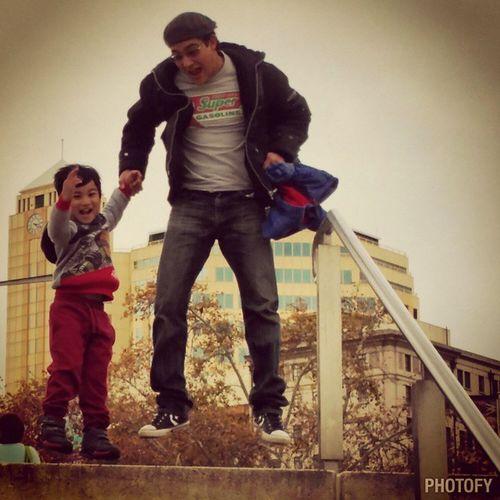 Max's favorite: Jump shots . Lovesit Jumpshots Jumpingwithdada Cityventures Fambam Dadahadto Fatherandson MyBoys Kidsplaying Instakids Adelaidescape Posermax Maxstyles Keepingupwithmem