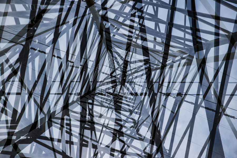 Abstract Backgrounds Cable Close-up Complexity Day Eye4photography  EyeEm EyeEm Best Shots EyeEm Gallery EyeEmNewHere Full Frame Low Angle View Metal Moments Multiple Exposures Nature Nikon NIKON D5300 Nikonphotography No People Outdoors Simplicity Skeleton Sky