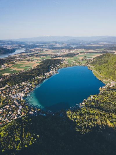 Klopeinersee Drone  Nature_collection Nature Water Scenics - Nature Beauty In Nature Sky Nature High Angle View Tranquil Scene Tranquility Outdoors Landscape No People