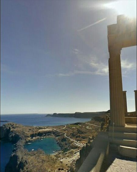 GREECE ♥♥ Rhodes Skyview Travel Outdoors Sea Greece Only Love Rhodes Greece Architecture Acropolis, Lindos Greece_ilove_you Lindos ❤️ Greece Greece Photos Acropolis Ancient History Rhodes ısland Lindos Greece Clear Sky Tourism History Sky Blue Ancient People