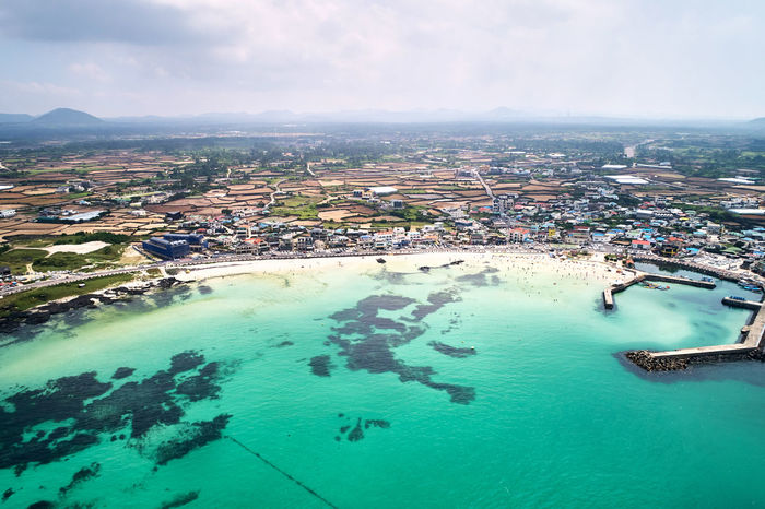 EyeEmNewHere Drone  JEJU ISLAND  Jeju Beach Beauty In Nature High Angle View Landscape Nature Outdoors Scenics - Nature Sea Sky Summer Travel Destinations Water First Eyeem Photo EyeEmNewHere