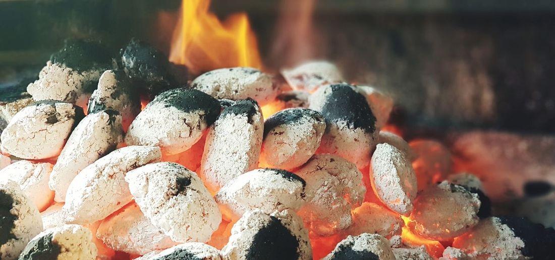 Flame EyeEm Selects Charcoal EyeEmNewHere Flame Burning Full Frame Close-up Bonfire Fire Heat Hot Heat - Temperature Inferno Ash Smoke
