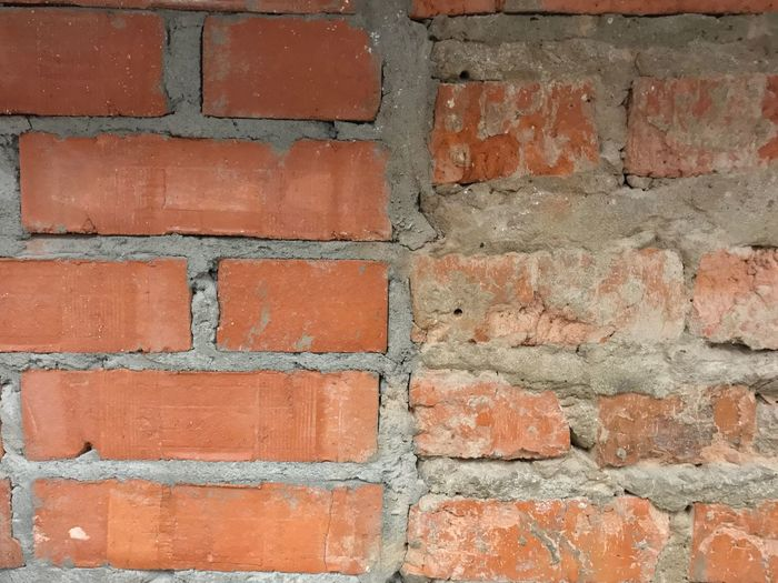 Abstract Backgrounds Old And New Architecture Old And Young Abstract Abstract Photography Wall - Building Feature Brick Wall Wall - Building Feature Built Structure Backgrounds Architecture Brick Red Textured  No People Full Frame Building Exterior Outdoors Close-up