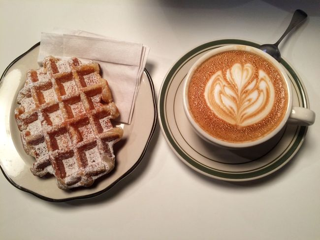 Breakfast of champions this morning at Everyman Espresso on February 13, 2015 in New York City. #breakfast #coffee