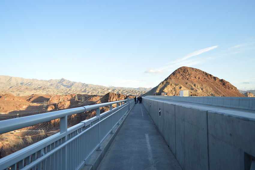 EyeEmNewHere Outdoors Travel Destinations Clear Sky Landscape Mountain Day Sky Scenics Nature Hoover Dam Hoover Dam Bypass Bridge Let's Go. Together.