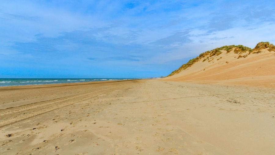 Beach Belgian Coast Coast Dunes Dunes Of Belgium Holiday Sand Sea Sky Sky And Clouds Sunset