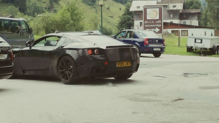 Taking Photos Spyphoto Astonmartin Prototype Testing. Grossglockner Supercar Camouflaged Cars
