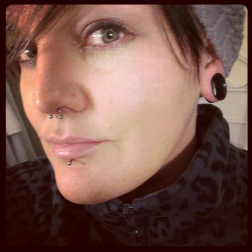 Pierced Modifiedgirls Stretchedearlobes Septumpiercing  lippiercing piercedgirls girlswithtattoos tattooedchicks