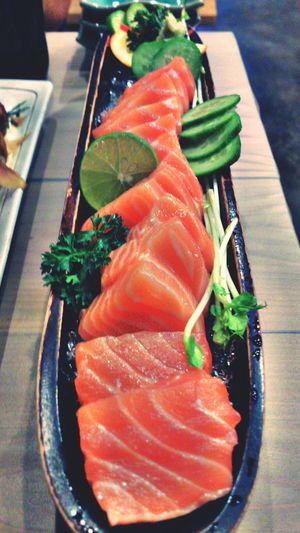 Say ah... for fresh salmon. Sashimi  Sushi Foodporn Chiangmai