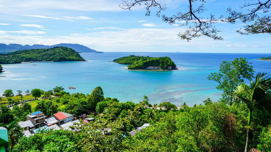An Island at Sabang Island Indonesia with clear blue water Aceh Aceh, Indonesia INDONESIA Acheh Beach Beauty In Nature Day Growth High Angle View Horizon Over Water Idyllic Mountain Nature No People Outdoors Sabah Sabang Island Sabangisland Scenics Sea Sky Tranquil Scene Tranquility Tree Water