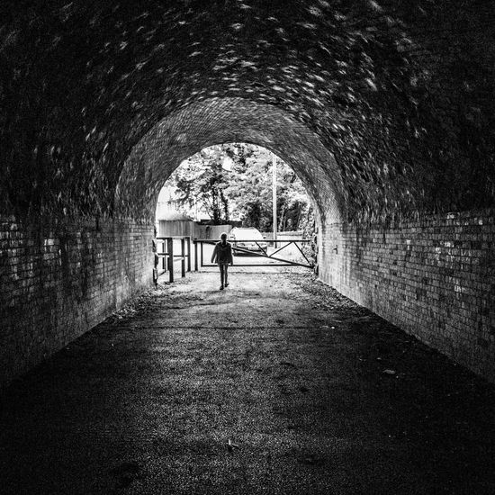 Tunnel end Hindley Wigan Tunnels Black & White
